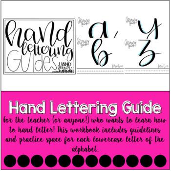 Hand Lettering Guides Practice Sheets | #teacherswhohandletter