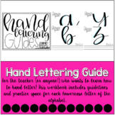 Hand Lettering Guides Practice Sheets | #teacherswhohandletter