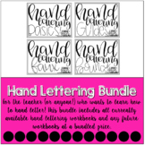 Hand Lettering Practice Sheets THE GROWING BUNDLE | #teach