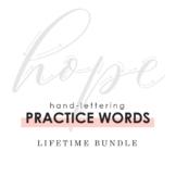 Hand-Lettering Practice Words: Lifetime Bundle