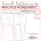 Hand Lettering Practice Worksheets Volume 2 | Faux Calligraphy