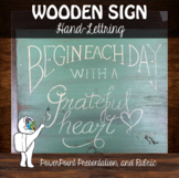 Hand Lettering - Wooden Sign Art