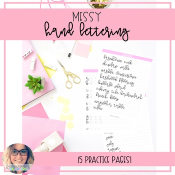 Hand Lettering Workbook: Messy Lettering