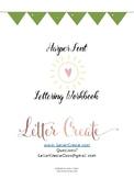 Hand Lettering Workbook Worksheets, Harper Font, Calligraphy Worksheets