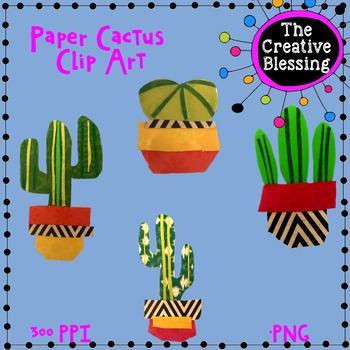 Hand Made Paper Cactus Clip Art