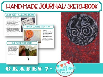Hand Made Sketchbook/ Journal
