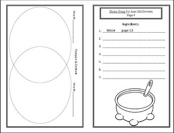 Hand Me Down Tales: Stone Soup (Week 3) Common Core Weekly Lesson Plan