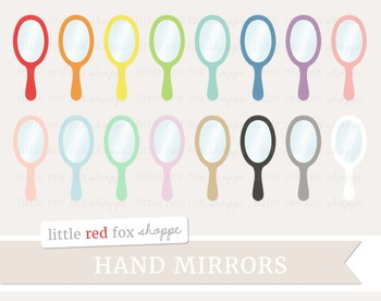 Hand Mirror Clipart; Bathroom