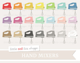 Hand Mixer Clipart; Electric, Stand Mixer, Kitchen, Baking, Cooking