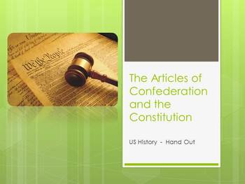 Hand Out on Ratification on the Constitution
