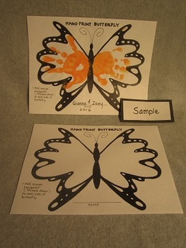Hand Paint Butterfly Project. Fun Craft Art
