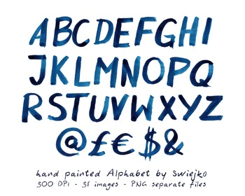 Hand Painted Alphabet