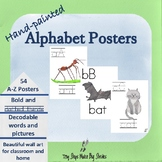 Hand Painted Alphabet Posters