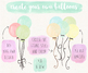 Hand Painted Colorful Watercolor Balloon Clipart - 48 PNGs