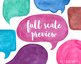 Hand Painted Colorful Watercolor  Speech Bubble Clipart - 16 PNG
