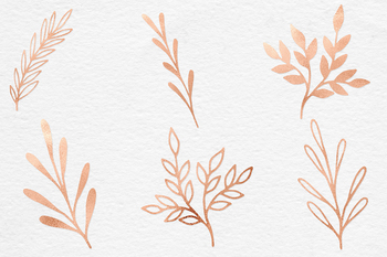 Hand Painted Copper Plants
