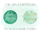 Hand Painted Green Watercolor Dots, Circles, Splotches Clipart - 12 PNG