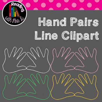 Hand Pairs Line Clipart