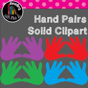Hand Pairs Solid Clipart