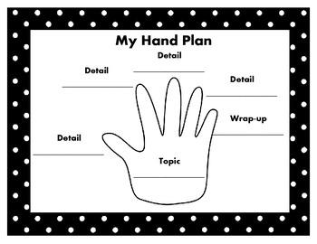 Hand Plan Writing Poster