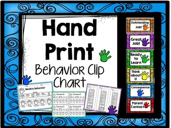 Hand Print Behavior Clip Chart
