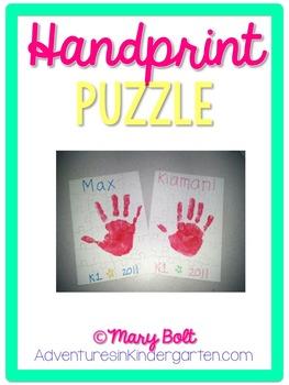 Hand Print Puzzle Poem