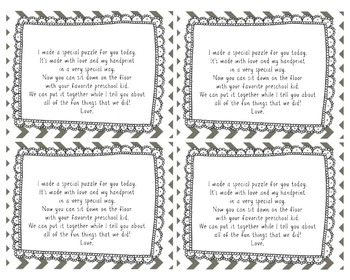 Hand Print Puzzle Poem Tag