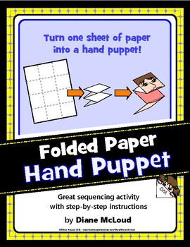 Hand Puppet from one sheet of folded paper—Quick and easy!