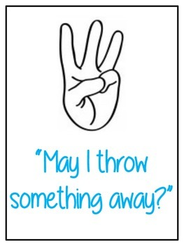 Hand Raising Rules Posters
