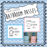 Hand Sanitizer Bathroom Passes