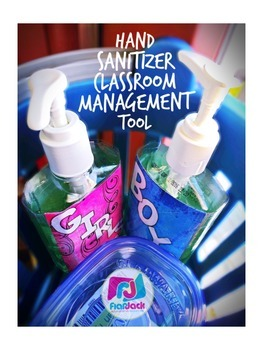 Hand Sanitizer Classroom Management Labels Freebie