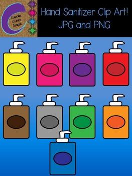 Hand Sanitizer Clip Art Color Images Designs