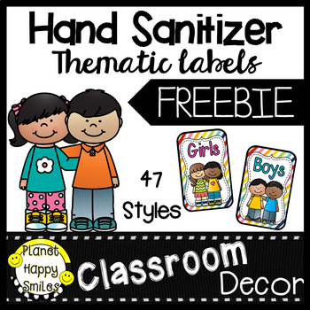 Hand Sanitizer ~ Germx Bathroom Pass Labels ~ FREEBIE #resourceswelove