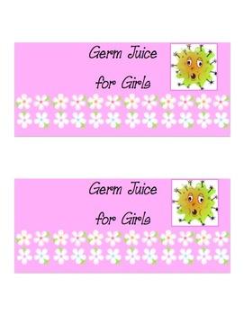 Hand Sanitizer Labels ~ Germ Juice!