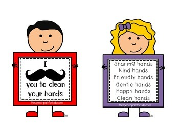 Hand Sanitizer Labels {freebie} for SLPs and Teachers