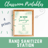 Hand Sanitizer Poster Be Wise Sanitize in tropical, succul