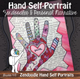 Zentangle Hand Self-Portrait Art with ELA - with Video Dem