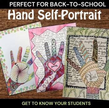 Hand Self-Portrait Art with ELA - Zendoodle Hand Project w/ Video Demonstrations