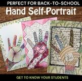 Zendoodle Hands Middle School Art Lesson - High School Art Lesson - ELA & Art