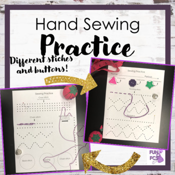 Hand Sewing Practice Sheet