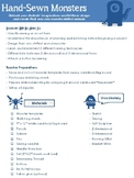 Hand-Sewn Monsters - Lesson Plan, Templates, and Handouts
