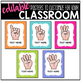 Hand Signal Posters - Editable