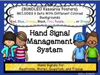 Hand Signal Management System Posters: Includes 8 Different Colored Chevron Sets