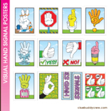 Hand Signals Posters with Yes and No Paddles