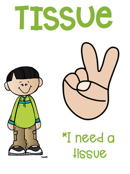 Hand Signal Posters Melonheadz Kids Theme Class Management