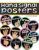 Hand Signal Posters EDITABLE Chalkboard Theme (Management
