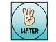 Hand Signal Posters / Non-Verbal Cue Cards in Teal Ombre Design