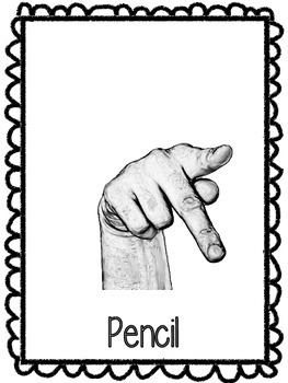 Hand Signal Posters - Pencil