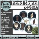 Hand Signal Posters (Rustic Coastal Famhouse)