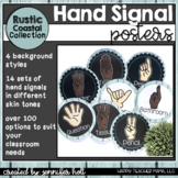 Hand Signal Posters (Rustic Coastal Famhouse)